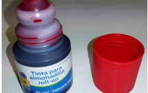 Tinta para sello de 30cc roll on color Rojo